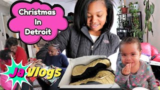 Opening Christmas Gifts In Detroit | JaVlogs