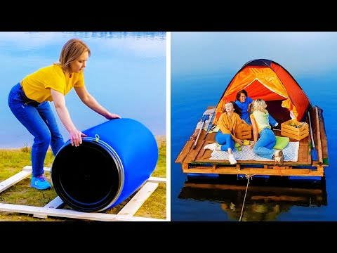 How to Make Camp on the Water? SMART DIY TRAVEL HACKS