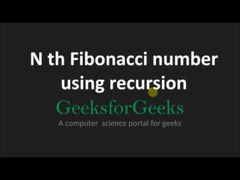 Find Nth Fibonacci No. Using Recursive Technique. | GeeksforGeeks