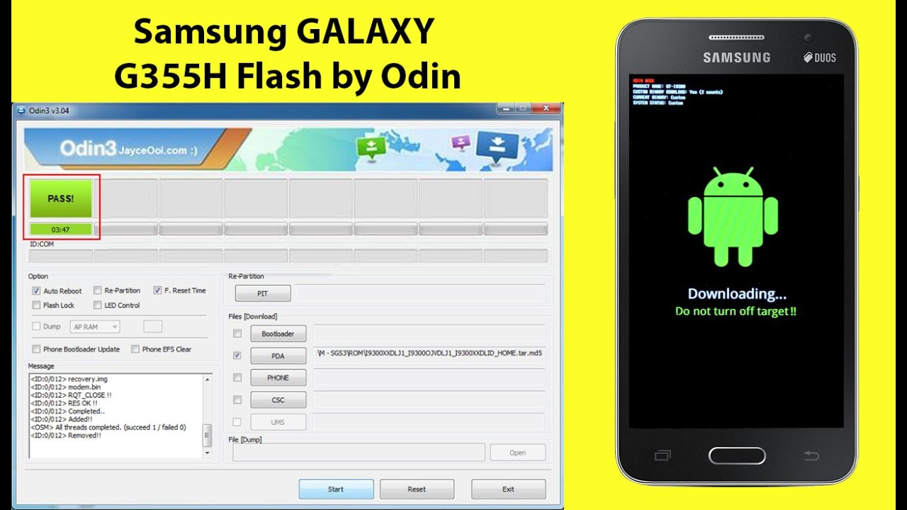 Samsung Galaxy SM G355H Core 2 Flash by Odin - YouTube