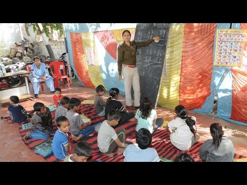 Indian Police Teach Slum Kids