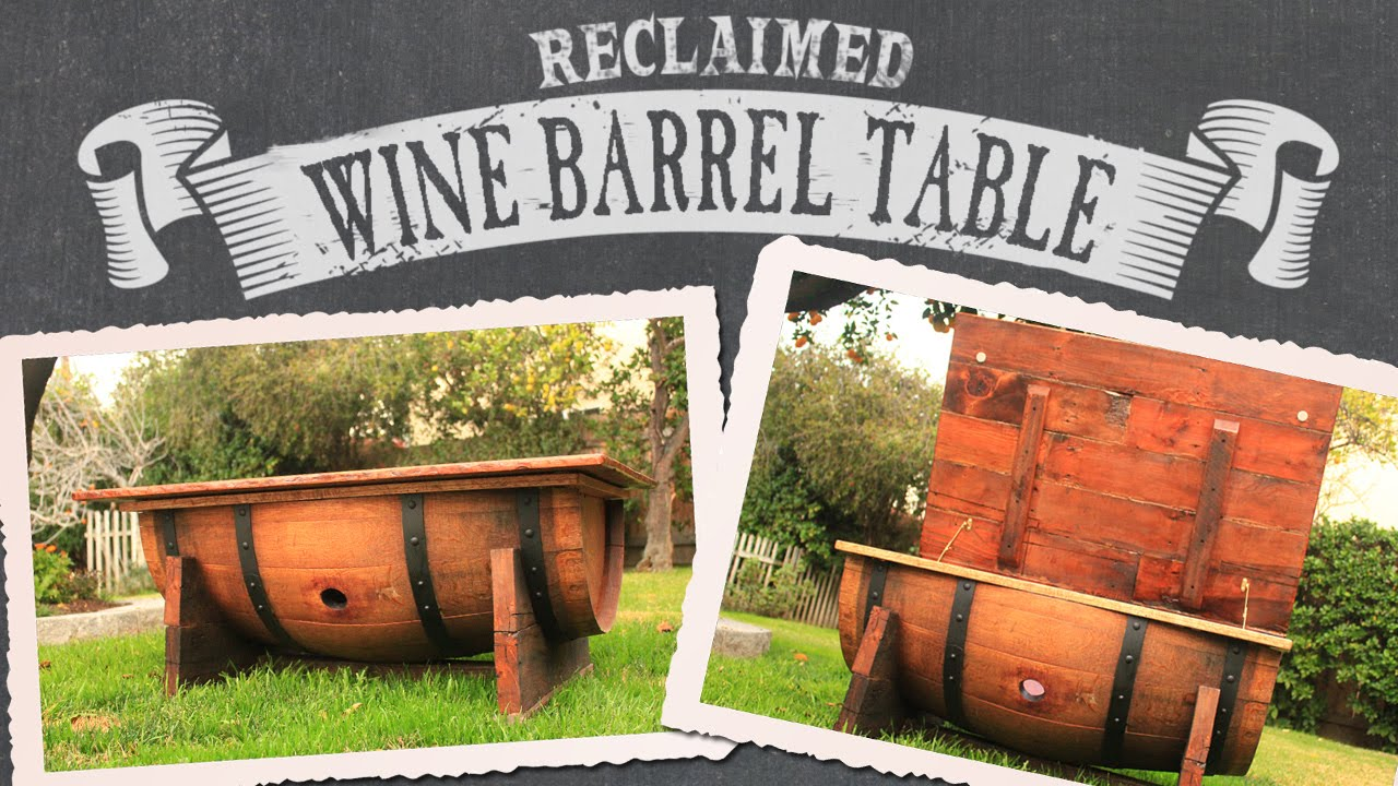 Diy Wine Barrel Coffee Table Youtube