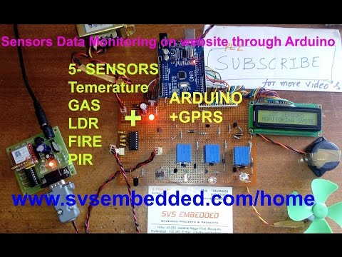 Sensors Data Monitoring on website through Arduino GPRS