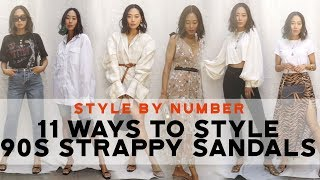 11 Ways To Wear Kitten Heels / 90s Strappy Sandals - Style By Number | Aimee Song