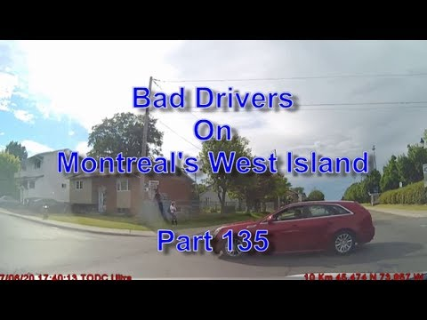 Bad Drivers on Montreal's West Island Part 135