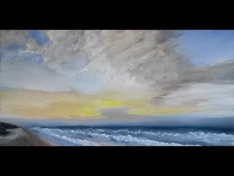 Ocean Sunrise – Oil Painting Time-lapse – Outer Banks of North Carolina