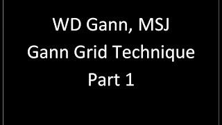 WD Gann MSJ Gann Grid Technique Part 1