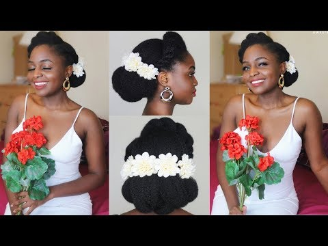 Natural Bride 1: Bridal Updo on 4c Natural hair ft AsIam