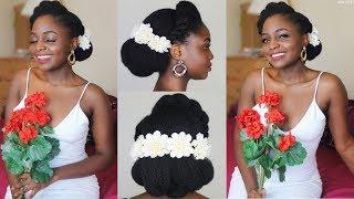 Natural Bride 1: Bridal Updo on 4c Natural hair ft AsIam