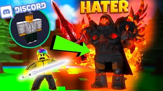 Overpowered RICH HATER THREATENS Me On DISCORD.. (Roblox Dungeon Quest)