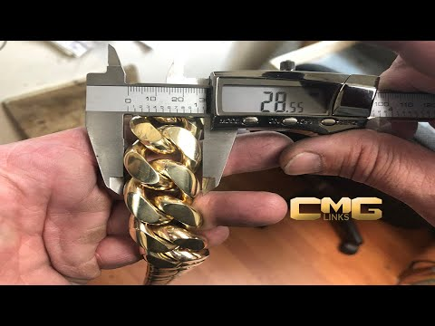 How a 2000 Grams Solid Gold Cuban Link Chain is Made.