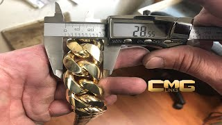 Birth of a Kilo II: How a Two Kilo Cuban Link Chain is Made. (Over 2000 Grams of Solid 10k Gold)