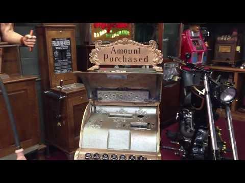 Restored National brass cash machine SOLD!