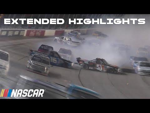 WRECKS on restarts from Darlington Raceway   NASCAR Trucks Series Extended Race Highlights