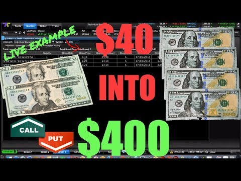$40 Into $400 Trading Options – How To Make Money On The Stock Market! LIVE TRADING
