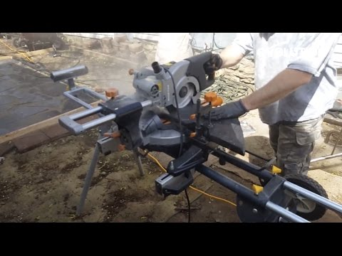 Evolution Rage3 Miter Saw / Mitre Saw: How to lay a granite patio!