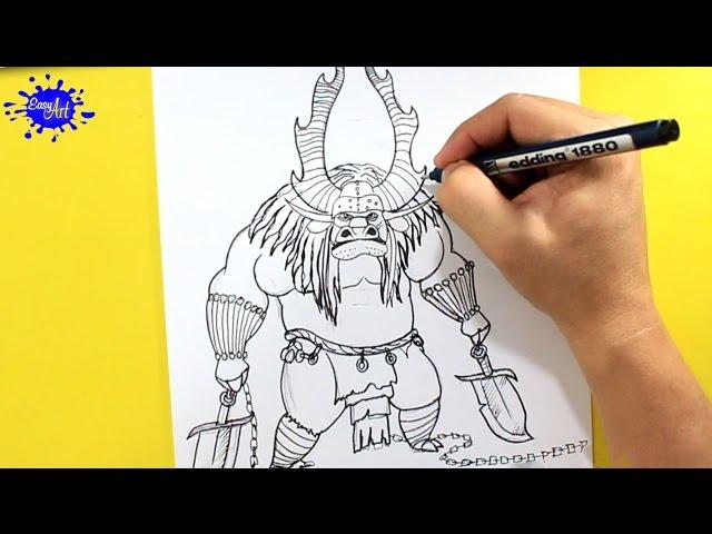How to draw Kai Kung fu panda / Como dibujar a Kai kung fu panda ...