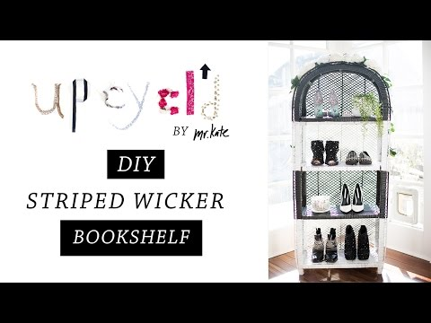 Upcycl'd: From Wicker to Glamour, DIY Bookshelf   Tutorial   Home Decor   Mr Kate