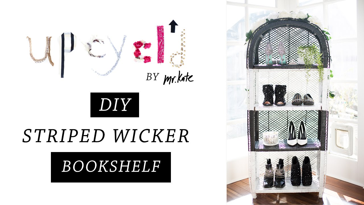 Upcycld From Wicker To Glamour DIY Bookshelf