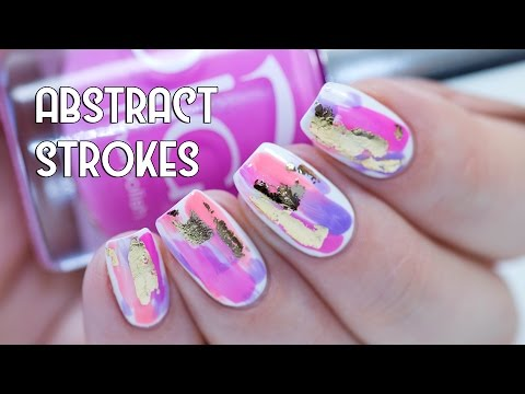 No Tool Nail Art Abstract Strokes Indigo Nails Youtube