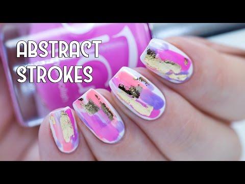 tool nail art - abstract strokes