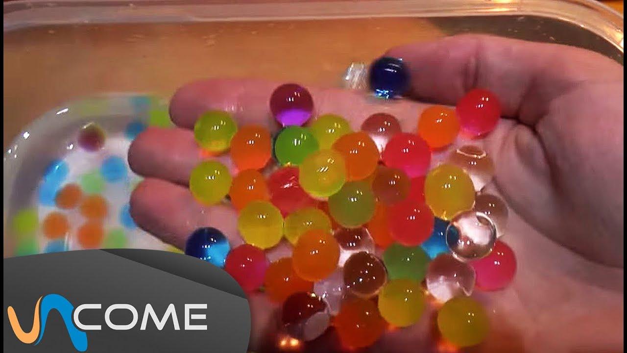 Favoloso Esperimenti con palline di gel colorato - YouTube QN64
