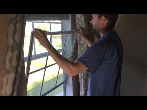 How to tilt and remove double-pane vinyl window sashes