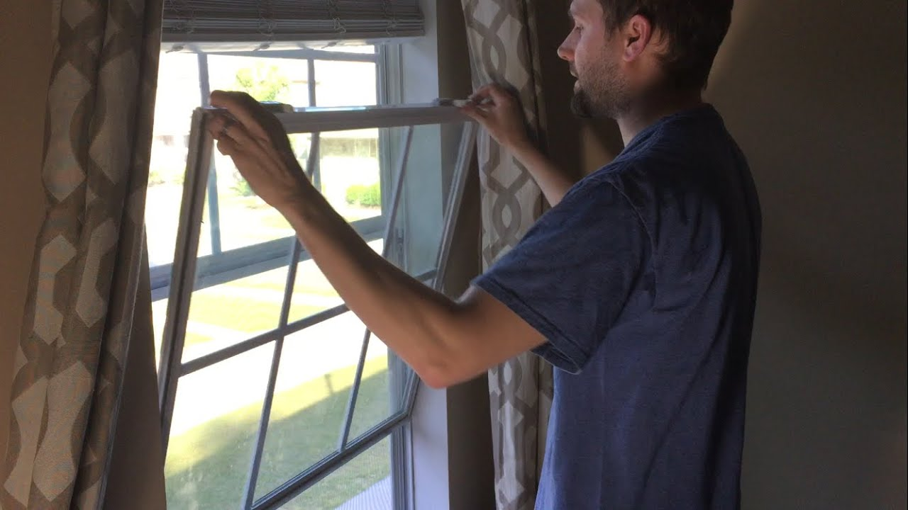 How To Tilt And Remove Double Pane Vinyl Window Sashes You