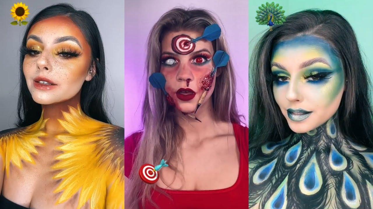 Emoji Makeup Challenge Compilation 🛸🐼🍋🎨🦚🌻 New Tiktok trend #1
