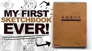 AGE 13 - SKETCHBOOK FLIPTHROUGH - from 2008!