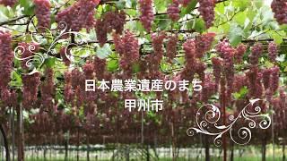 甲州市 日本農業遺産