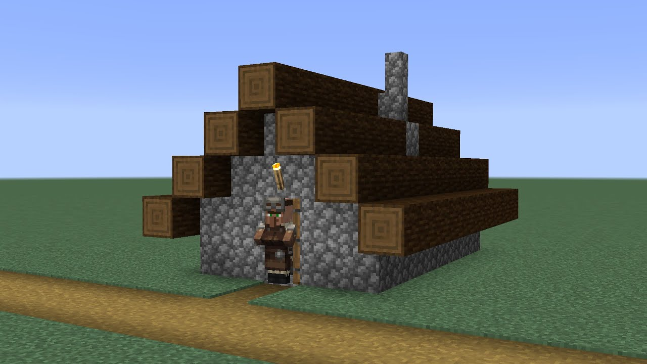 How to build a Minecraft Village Armorer House 9 (9.94 taiga)