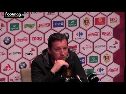 Conférence de presse Marc Wilmots équipe de Belgique