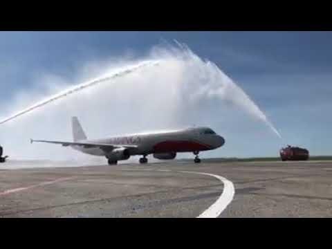ПЕРВЫЙ AIRBUS A321 СЕЛ В АЭРОПОРТУ УЛЬЯНОВСК (БАРАТАЕВКА)
