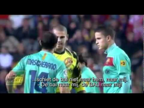 Valdés vs Afellay. (ondertiteld) FCUpdate.nl