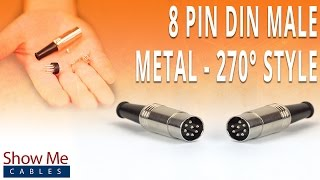 How To Install The 8 Pin DIN Male Solder Connector (270° Style) - Metal