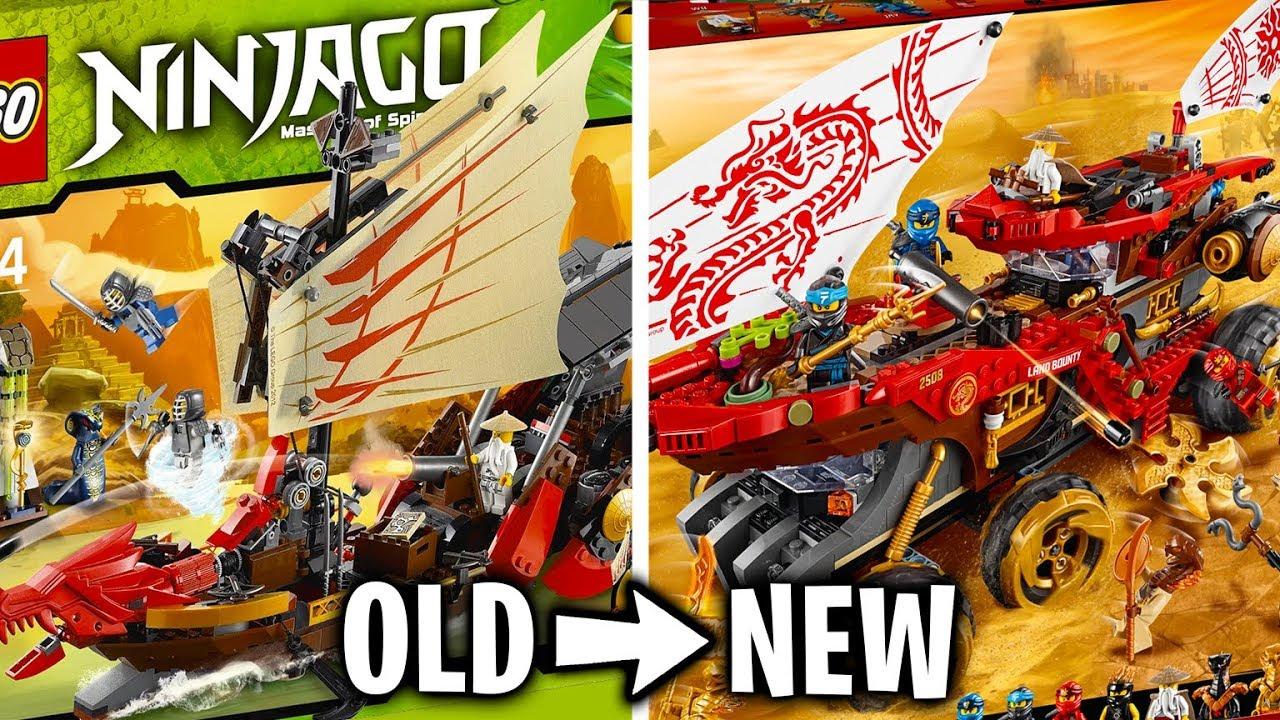 All LEGO Ninjago Destiny's Bounty Sets - OLD vs NEW! (2012 ...