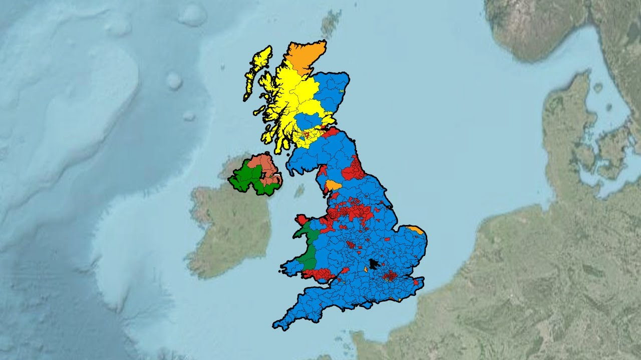 Map Of Uk General Election Results.United Kingdom General Election Results 1945 2017