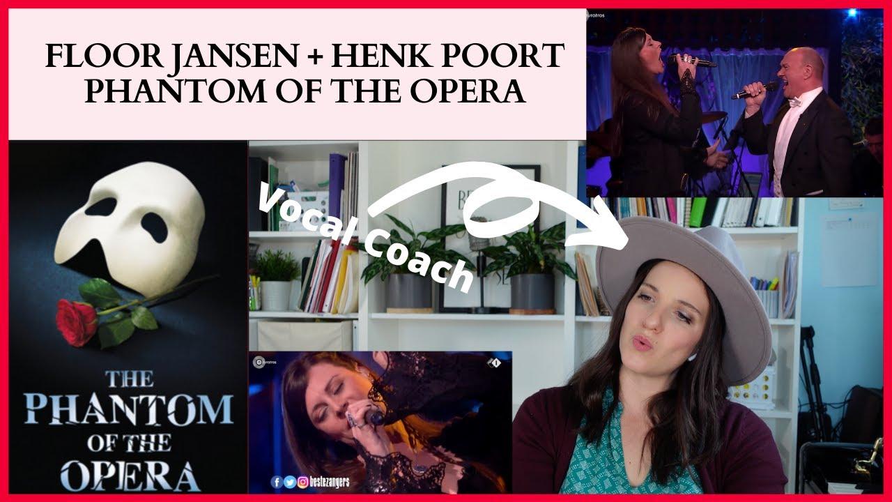 Floor Jansen + Henk Poort - Phantom of the Opera - VOCAL COACH REACTS