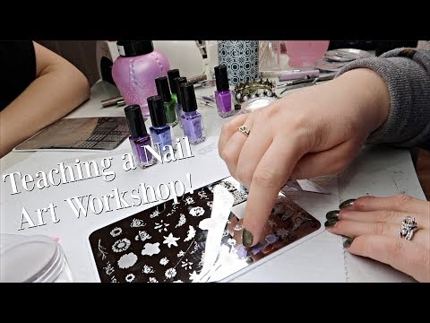 Teaching a Nail Art Workshop (Vlog)