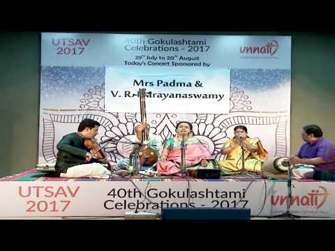 UTSAV - 2017. Sudha Ragunathan  and Party performing at Unnati, Bangalore