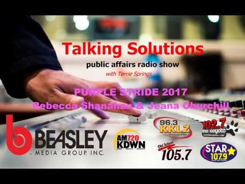 Talking Solutions with Purple Stride 2017