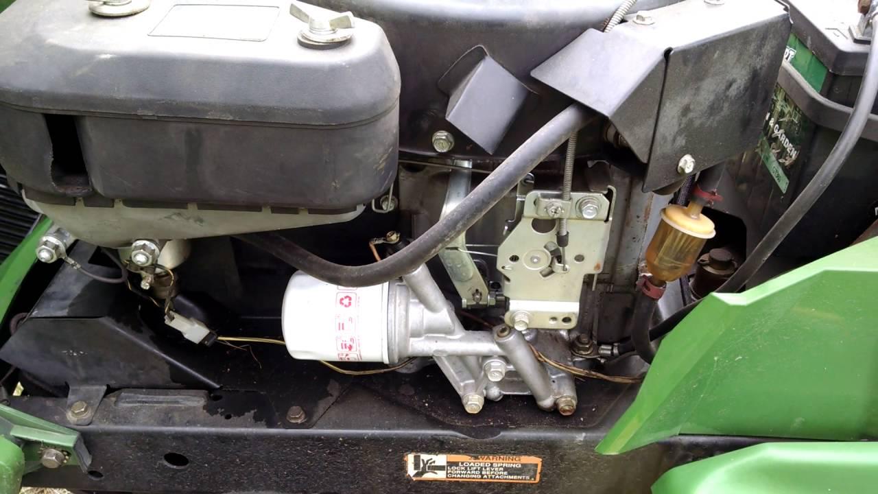 Craftsman Tractor Wiring Diagrams John Deere Gt275 Youtube