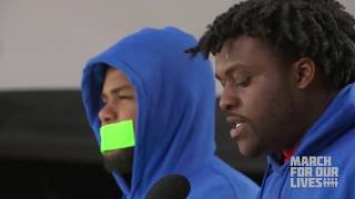 Alex King and D'Angelo McDade Speaks at March For Our Lives -
