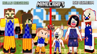 AİLE BOYU KAPIŞMA ROD vs WİLSON 😲 Minecraft Hello Neighbor vs Ice Scream 4