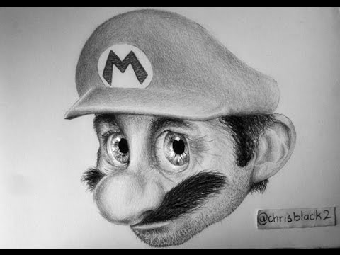 Image of: Minimalist Realistic Mario Drawing Youtube Realistic Mario Drawing Youtube
