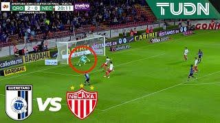 ¡Gran reacción de González!   Querétaro 2 - 0 Necaxa   Liga Mx - AP 19 - Cuartos de final   TUDN