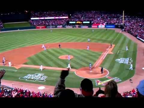 David Freese triple in World Series, bottom 9th.