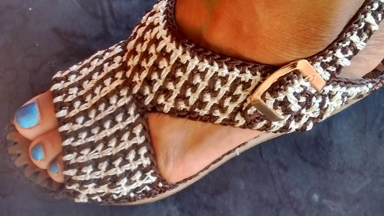 A Alta Sandalias Plataforma Crochet Rocxwdbe Tejida D9EHI2
