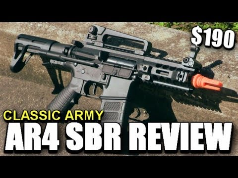A Tiny Airsoft M4 For CQB - Classic Army AR4 Review - It Needs More Work.